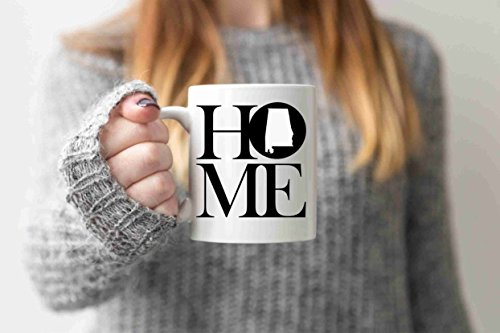 Alabama Mug State Mug Coffee Mug Home Mug Homesick Gift Personalized Mug Custom Mug No Place Like Home State Mug Gift For Him Boyfriend - Custom Personalized Drinkware