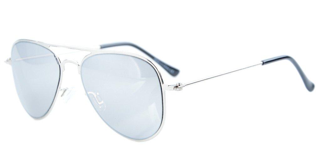 Eyekepper 3-10 Jahre alte Kinder Flieger-Sonnenbrille Gold Rahmen-Gruen Spiegel en0gOSO4UJ