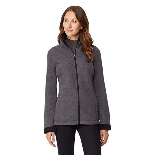 Rough Womens Full Zip - 32 DEGREES Womens Sherpa Fleece Jacket, Rough Ash, XXLarge