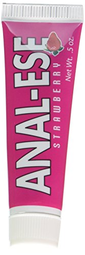 Nasstoys Anal Ese Flavored Desentizing Lubricant, Strawberry.5 Ounce