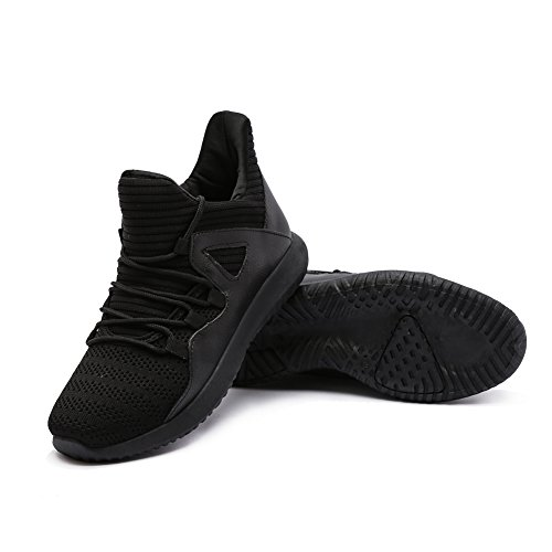 Running fereshte 13 Black 6 Walking Sports Sneakers Fashion Gym 5 Trainers Lightweight Shoes Men's Size qqw4gU