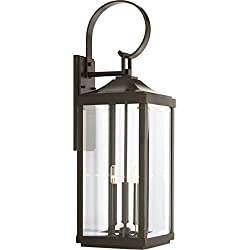 Progress Lighting P560023-020 Gibbes Street Collection Three-Light Large Wall-Lantern, Antique Bronze