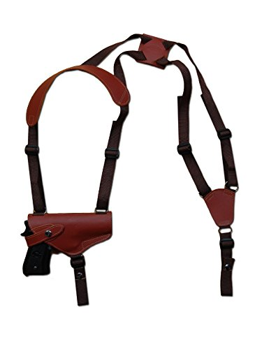 Barsony New Horizontal Burgundy Leather Shoulder Holster for COLT DOUBLE EAGLE GOVT left
