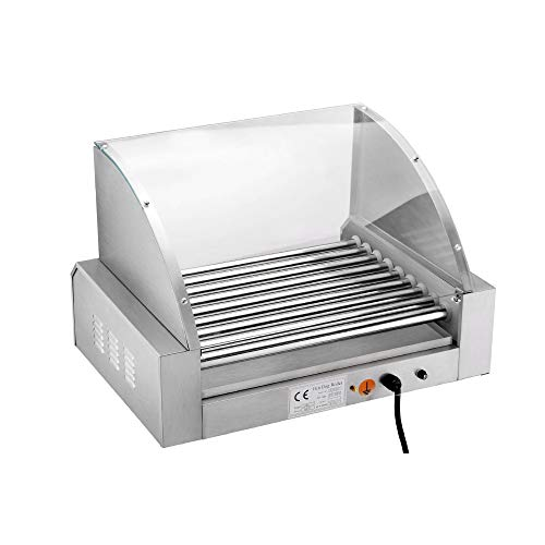 Great Northern Mad Dawg Commercial 9 Roller Stainless Steel Hot Dog Machine With Cover by Great Northern Popcorn Company (Image #2)