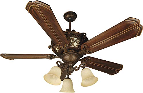(Craftmade K10767 Ceiling Fan Motor with Blades Included, 52