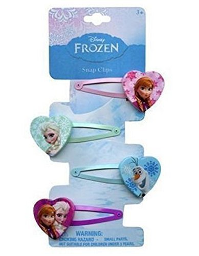 Disney Frozen Hair Clips Snap Clips Barrets set of (Frozen Hair Accessories)