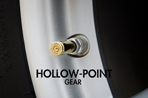 Hollow-Point Gear Bullet Tire Caps for Jeeps - Set of 5 Recycled Brass .40 Caliber Once-Fired Bullet Casing - Car, Bike, Motorcycle, Truck, ATV Replacement Tire Valve Caps. Gift for Military by Hollow-Point Gear (Image #2)