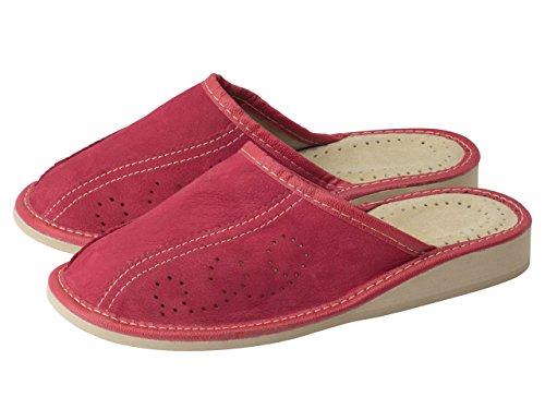 aveego - Zapatillas de estar por casa de Otra Piel para mujer Red
