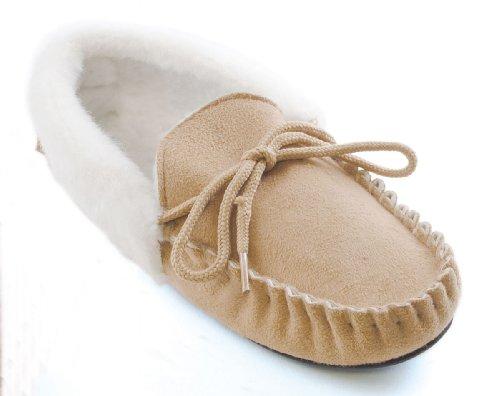 Slumberz - Zapatillas de estar por casa para mujer marrón - Beige Brown