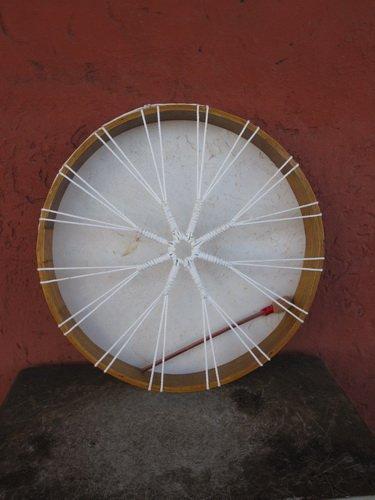 50cm BODHRAN TAMBURO ETNICO PELLE NATURALE INTONABILE FUSTO IN LEGNO Djembe R6