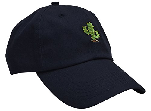 CACTUS Cotton Embroidery Adjustable Baseball Cap Baseball Hat Dad Hat from Skyed Apparel (Multiple Colors)