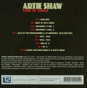 Artie Shaw'. (Individual Cds Entitled 'Ladies And Gentlemen It's Artie Shaw' '50'S' 'Mid 4