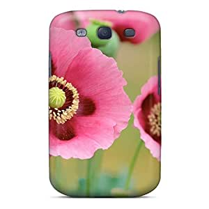 XVu1562nYUF Faddish Poppies Flowers Backgrounds Case Cover For Galaxy S3