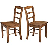 Rustic Wooden Dining Chairs Armless Classic Dining Room Side Chair No Arms Living Room Furniture Set & e Book by AllTim3Shopping