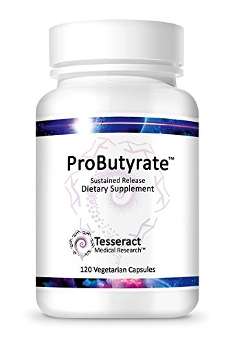 Tesseract Medical Research ProButyrate, 120 Capsules (1ct), Pure Butyric Acid Supplement Formulated for High Bio-Availability and Efficient Absorption, Supports GI Health and Microbiome Health