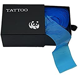 Clip Cord Covers,New Star Tattoo One Box of 100PCS Plastic Blue Clip Cord Sleeves,Tattoo Clip Cord Covers for Tattoo Supply