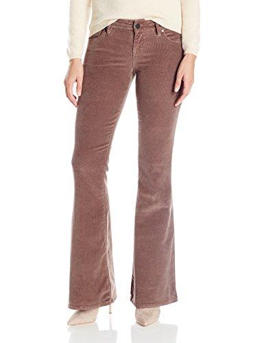 Level 99 Women's Dahlia Fit & Flare Corduroy Pant, Musk, 25 (Flare Cotton Corduroys)
