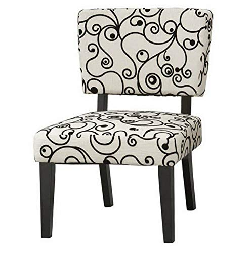 Sasha White Swirl - Monowi Taylor Accent Chair - Black Swirl, White, 23.03W x 28.15D x 33.86H in. | Model CCNTCHR - 9