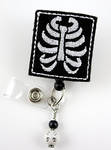 Badge X-ray (X-Ray - Nurse Badge Reel - Retractable ID Badge Holder - Nurse Badge - Badge Clip - Badge Reels - Pediatric - RN - Name Badge Holder)