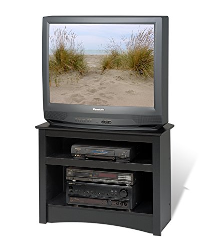 Black Corner TV Stand by Prepac
