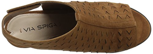 Women's Spiga Sandal Via Leatrice Wedge Luggage 6Td1qw5
