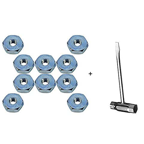 SaferCCTV(TM)10pcs Procket Cover Bar Nut with 13-by-19 mm Chain Saw Scrench for Stihl MS240 MS260 MS270 MS280 MS290 MS310 MS390 MS340 MS360 MS360C MS440 MS460 MS640 MS650 MS660 (Stihl Ms310 Bar And Chain)