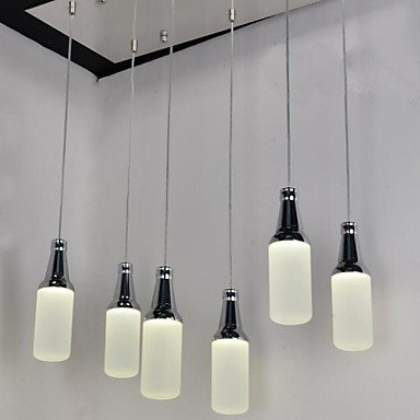 Lámpara de techo colgante de techo marca 6 unidades, 2 diseños nouveaut š Š forma de botella de plástico 90-240 V: Amazon.es: Iluminación
