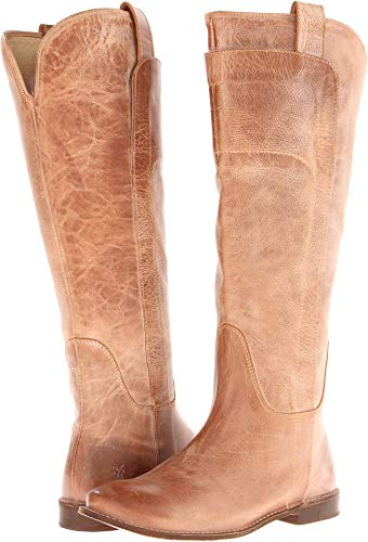 Frye Womens Paige Tall Riding Leather Tan Fashion Boot 6 New
