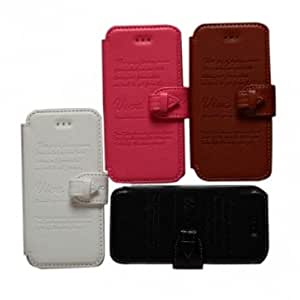 KLD Vintage Style PU Leather Holder Case Cover For iPhone 4 4S --- Color:Black