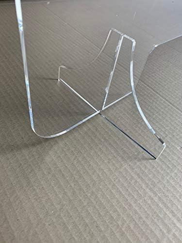 ROTULOS HUGO Placa Metacrilato de 4 mm Transparente. Corte Laser Mampara Proteccion. 830x550x4mm: Amazon.es: Bricolaje y herramientas