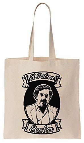 de PATRON Reutilizables Compras Algodón ESCOBAR de Pablo Tote Bolsos Bag EL 1PFwPzqSx