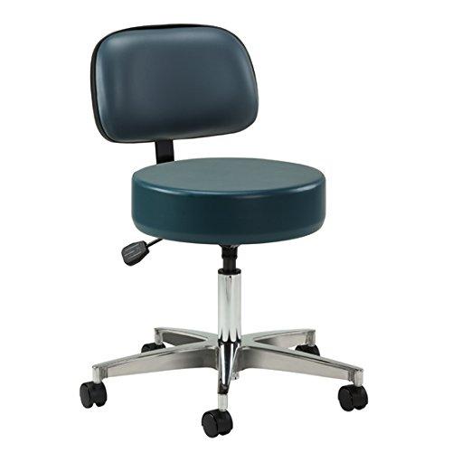 Slate Blue 5-Leg Pneumatic Stool with Backrest- CL-2155-21