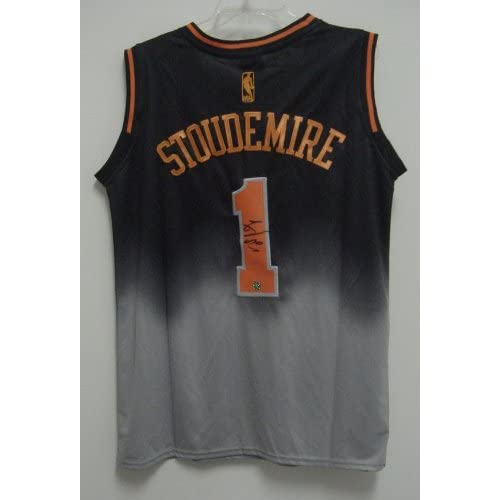 66307b8c0f1 Amare Stoudemire New York Knicks Autographed Black Grey Drift #1 Jersey  lovely