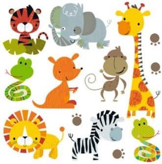Pegatinas infantiles transfer parche termoadhesivo animales zoo ...