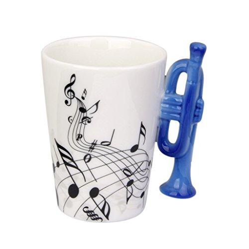 MagiDeal Trumpet Shaped Handle Porcelain