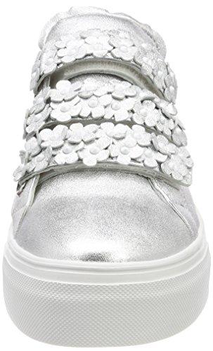 Big Und Baskets Sohle white silver Femme Schmenger Weiß Kennel Silber xBpPnww