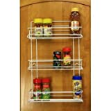 Grayline 40552, 3 Shelf Gourmet Spice Rack, White