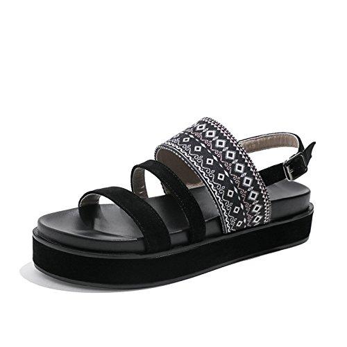YMFIE Sandalias Bohemia de Moda Casual Peep Toe Sandalias de Mujer Comfort Comfort Antideslizante, 36 UE 40 EU