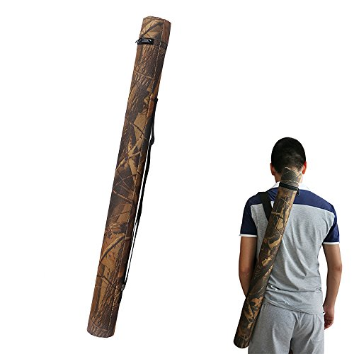 Huntingdoor Camo Arrow Back Quiver Archery Arrow Tube Carrier Holder Arrow Shoulder Telescopic Case with Belt Hold 12pcs Arrows (Arrow Holder For Case)