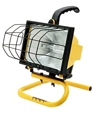Designers Edge L20 Portable Handheld Work Light, Yellow, 500-Watt by Designers Edge