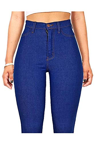 Le Blu Donne Pantaloni Vita Alte Boot Fit Cut Jean Jeans Slim Skinny 2color rrTAq