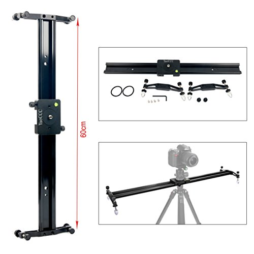 YaeCCC DSLR Camera Track Dolly Slider Video Stabilization Rail System, Perfect For Photography and Video (24''/60cm) by YaeCCC