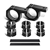 Light Bar Mounting Bracket Kit LED Off-Road Light Horizontal Bar Tube Clamp 1', 1.5', 1.75' & 2' Roof Roll Cage Holder for Off Road Jeep ATV AWD SUV 4WD 4x4 Pickup