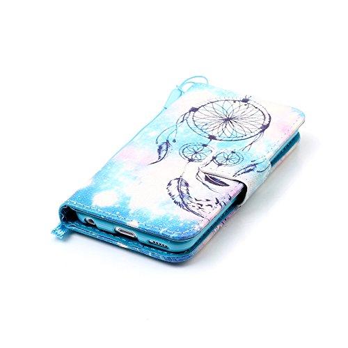 Cover iPod touch 5/6 ISAKEN Drawing Pattern Design Elegante borsa Custodia in Pelle PU per iPhone iPod touch 5/6 Sintetica Rigida Case Cover Protettiva Flip Portafoglio Case Cover Protezione Caso con