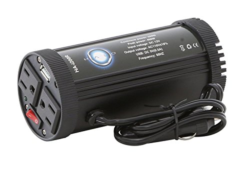 Halo-Automotive-200-Watt-Power-Inverter-DC-12V-to-110V-AC-Inverter-with-USB-Car-Adapter