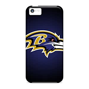 Shockproof Cell-phone Hard Cover For Iphone 5c With Customized Colorful Baltimore Ravens Pictures CharlesPoirier