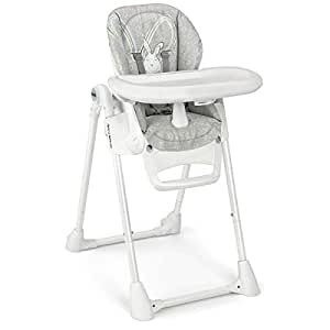 Cam Pappananna Baby High Chair - Silver, 0-36 Months