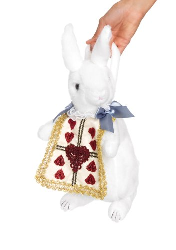 Leg Avenue Rabbit Purse Costume Accessory, White/Gold, One Size
