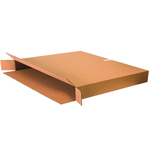 Boxes Fast BF36530FOL Side Loading Corrugated Cardboard Shipping Boxes, 36'' x 5'' x 30'', for Mirrors and Artwork, Kraft (Pack of 20) by Boxes Fast (Image #4)