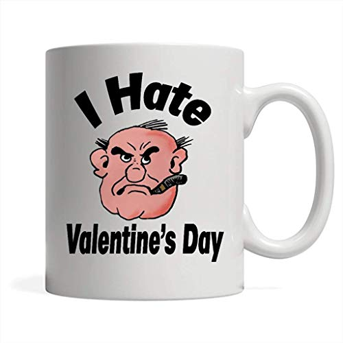 I Hate Valentine's Day W - Full-Wrap Coffee White Mug